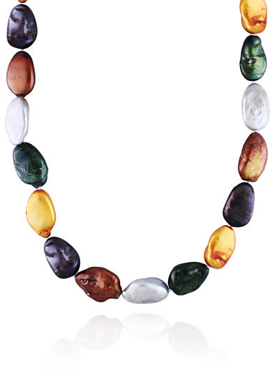 Belk & Co. Sterling Silver Multi Color Freshwater Pearl Necklace