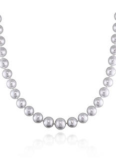 Belk & Co. 14k White Gold White South Sea Pearl Necklace