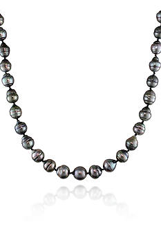 Belk & Co. 14k White Gold Tahitian Pearl Necklace
