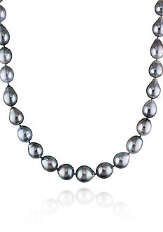 Belk & Co. 14k White Gold Platinum Tahitian Pearl Necklace
