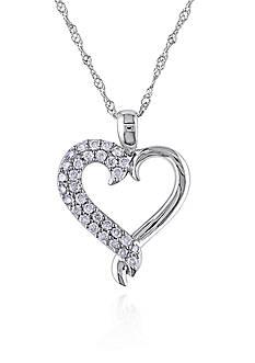 Belk & Co. Diamond Heart Pendant in 10k White Gold