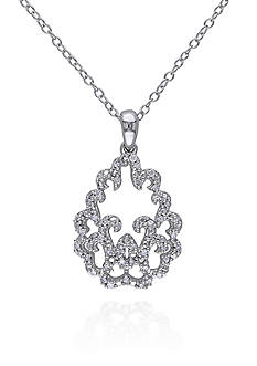 Belk & Co. Diamond Pendant in Sterling Silver