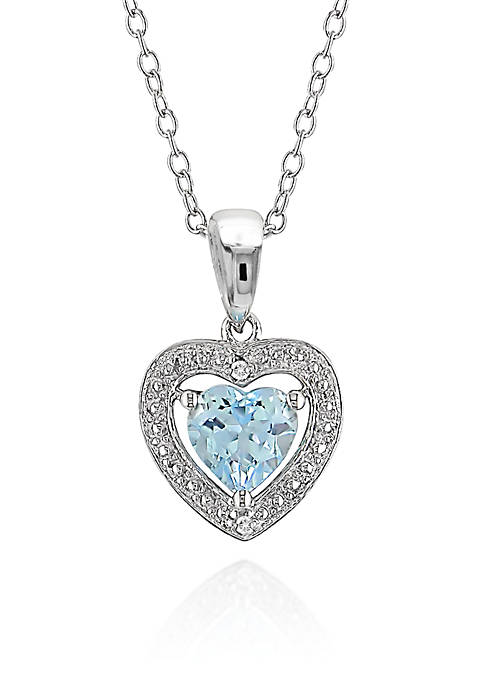 Belk Co Sterling Silver Blue Topaz And