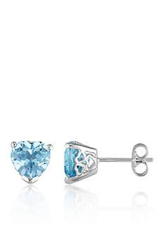 Belk & Co. Sterling Silver Blue Topaz Earrings