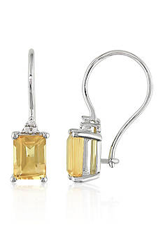 Belk & Co. Sterling Silver Citrine and Diamond Earrings