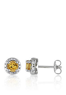 Belk & Co. Sterling Silver Citrine Earrings
