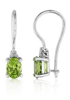 Belk & Co. Sterling Silver Peridot and Diamond Earrings