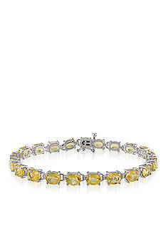 Belk & Co. Sterling Silver Citrine Bracelet