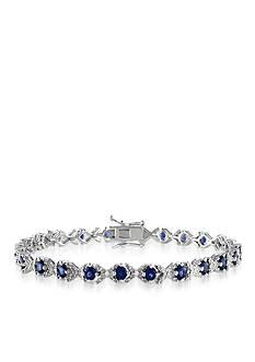 Belk & Co. Sterling Silver Black Sapphire and Diamond Bracelet
