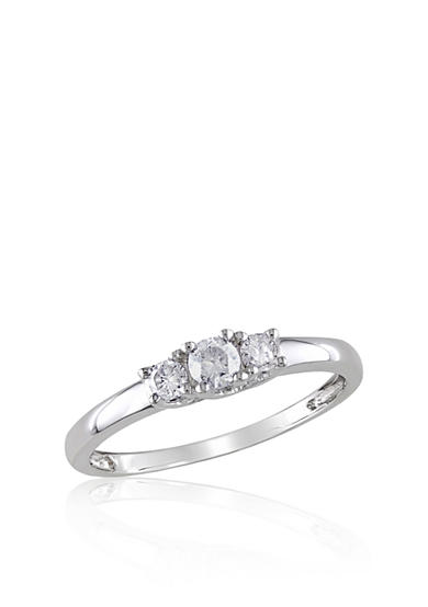 Belk & Co. 1/4 ct. t.w. Diamond Three Stone Engagement Ring in 14k White Gold