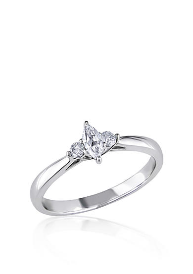 Belk & Co. 1/4 ct. t.w. Diamond Engagement Ring in 10k White Gold<br>