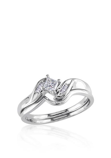 Belk & Co. 1/4 ct. t.w. Diamond Bridal Ring Set in 14k White Gold