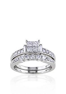 Belk & Co. 1 ct. t.w. Diamond Bridal ring Set in 10k White Gold