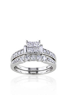 Belk & Co. 1 ct. t.w. Diamond Bridal ring Set in 10k White Gold