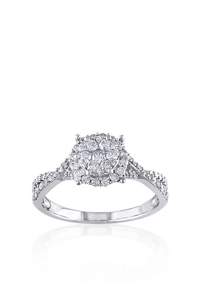 Belk & Co. Diamond Ring in 10k White Gold<br>