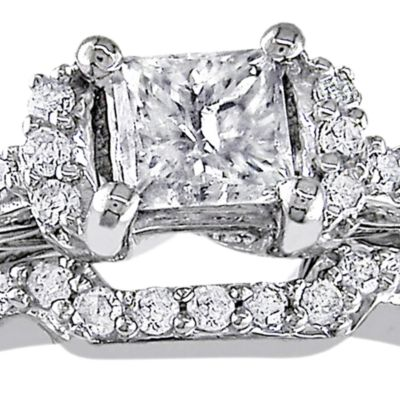 Jewelry & Watches: Sets Sale: White Gold Belk & Co. 1/2 ct. t.w. Diamond Bridal Ring Set in 10k White Gold