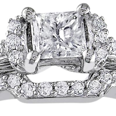 Jewelry & Watches: Sets Sale: White Belk & Co. 1/2 ct. t.w. Diamond Bridal Ring Set in 10k White Gold