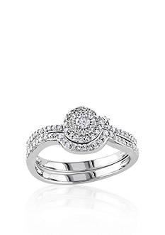 Belk & Co. 1/3 ct. t.w. Diamond Bridal Ring Set in 10k White Gold