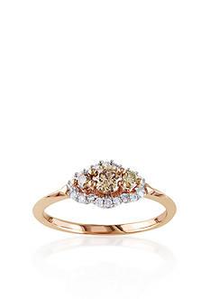 Belk & Co. Brown Diamond Engagement Ring in 10k Rose Gold