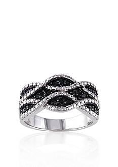 Belk & Co. Black Diamond Ring in Sterling Silver