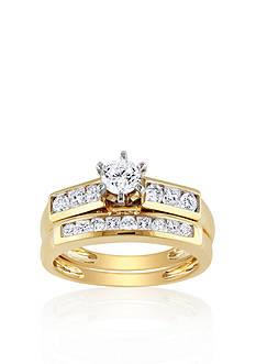 Belk & Co. 1 ct. t.w. Diamond Bridal Set in 14k Yellow Gold