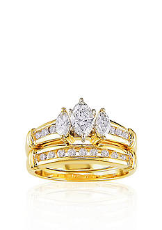 Belk & Co. 1 ct. t.w. Diamond Bridal Set in 14k Yellow Gold <br>