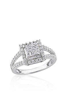 Belk & Co. Diamond Cluster Ring in 14k White Gold