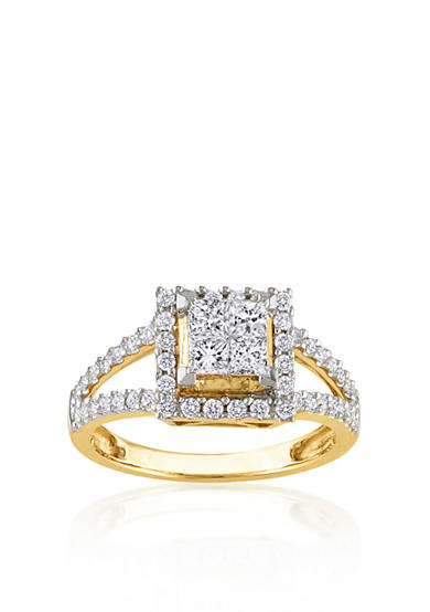 Belk & Co. Diamond Engagement Ring in 14k Yellow Gold<br>