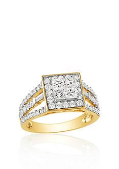 Belk & Co. Diamond Engagement Ring in 14k Yellow Gold