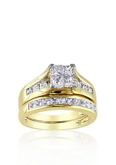Belk & Co. 2 ct. t.w. Diamond Bridal Ring Set in 14k Yellow Gold