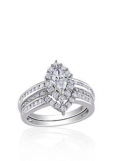 Belk & Co. 1.50 ct. t.w. Diamond Bridal Set in 14k White Gold