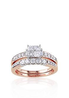 Belk & Co. 1 ct. t.w. Diamond Bridal Ring Set in 14k Rose Gold