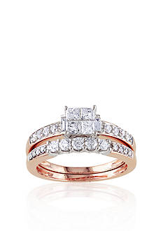 Belk & Co. 1 ct. t.w. Diamond Bridal Ring Set in 14k Rose Gold