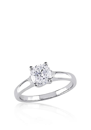 Belk & Co. Diamond Solitaire Ring in 14k White Gold<br>