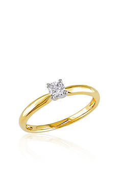 Belk & Co. Diamond Solitaire Ring in 10k Yellow Gold