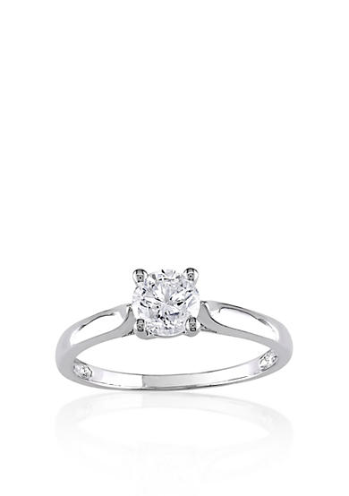 Belk & Co. Diamond Solitaire Ring in 14k White Gold