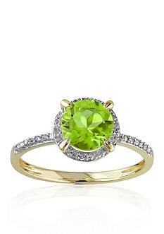 Belk & Co. 10k Yellow Gold Peridot and Diamond Ring