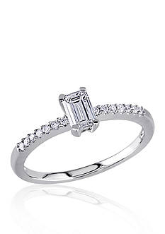 Belk & Co. 1/2 ct. t.w. Diamond Engagement Ring in 14k White Gold
