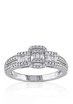 Belk & Co. 1/3 ct. t.w. Diamond Engagement Ring in 10k White Gold