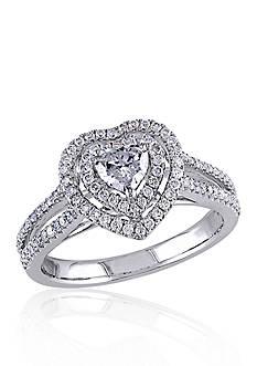 Belk & Co. 3/4 ct. t.w. Diamond Engagement Heart Ring in 14k White Gold