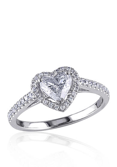 Belk & Co. 1 ct. t.w. Diamond Engagement Heart Ring in 14k White Gold<br>
