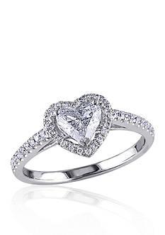 Belk & Co. 1 ct. t.w. Diamond Engagement Heart Ring in 14k White Gold