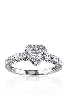 Belk & Co. 1/2 ct. t.w. Diamond Engagement Heart Ring in 14k White Gold