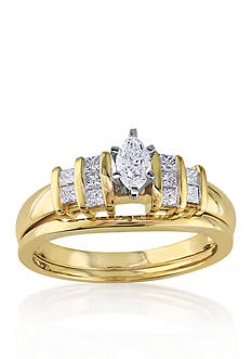 Belk & Co. 1/2 ct. t.w. Diamond Bridal Ring Set in 14k Yellow Gold