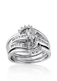 Belk & Co. 3/4 ct. t.w. Diamond Bridal Ring Set in 14k White Gold