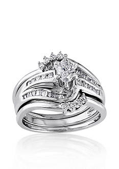 Belk & Co. 3/4 ct. t.w. Diamond Bridal Ring Set in 14k White Gold