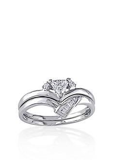 Belk & Co. 1/3 ct. t.w. Diamond Bridal Ring Set in 14k White Gold