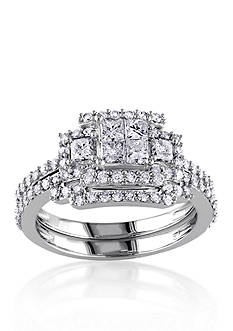 Belk & Co. 1.20 ct. t.w. Diamond Bridal Ring Set in 14k White Gold