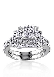 Belk & Co. 1.20 ct. t.w. Diamond Bridal Ring Set in 14k White Gold