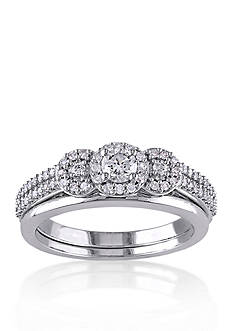 Belk & Co. 1/2 ct. t.w. Diamond Bridal Ring Set in 10k White Gold